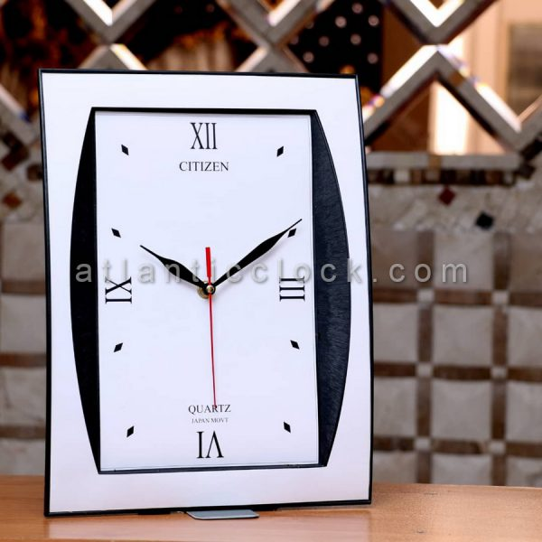 ساعت دیواری مستطیل سفید سایز 34
