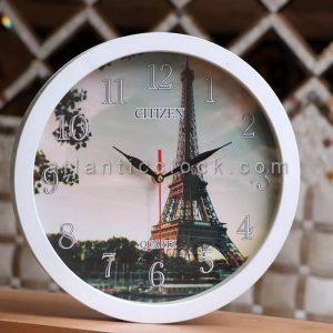 ساعت دیواری گرد برج ایفل سایز 41