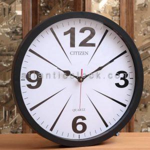 ساعت دیواری گرد خطی سیاه سایز 41