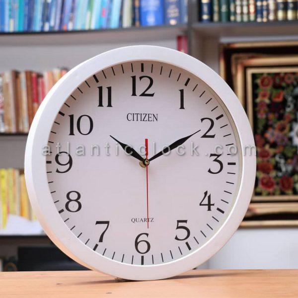 ساعت دیواری گرد سفید سایز 31