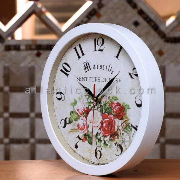 ساعت دیواری گرد گل سایز 41