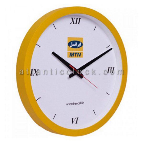 ساعت دیواری تبلیغاتی ایرانسل سایز 31 گرد