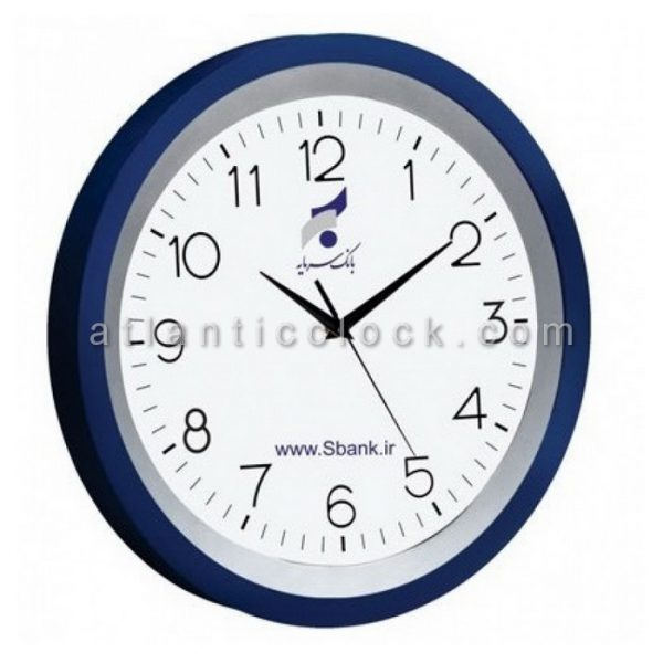 ساعت دیواری تبلیغاتی بانک سرمایه سایز 31 گرد