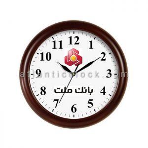 ساعت دیواری تبلیغاتی بانک ملت سایز 31 گرد