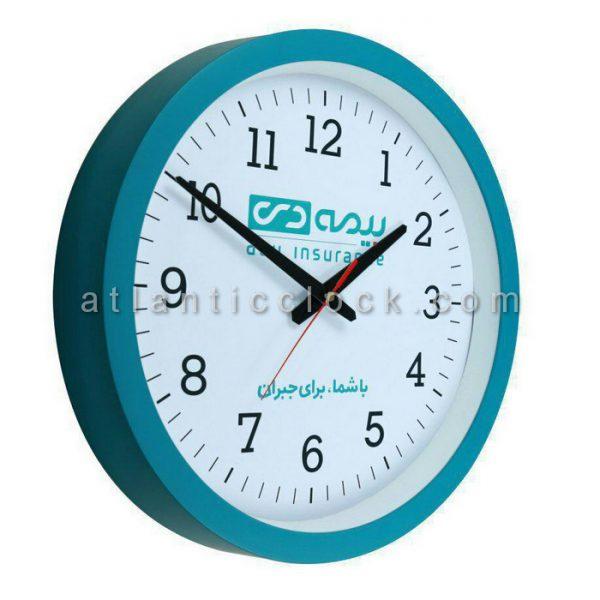 ساعت دیواری تبلیغاتی بیمه دی سایز 31 گرد
