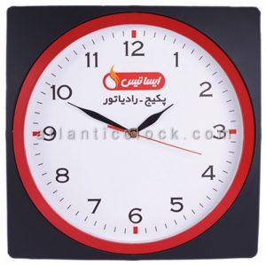 ساعت دیواری تبلیغاتی رادیاتور ایساتیس سایز 31 گرد