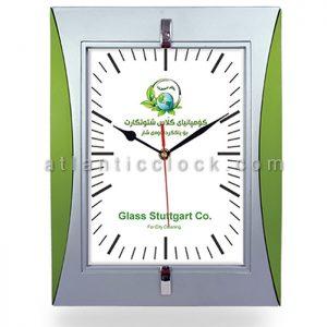 ساعت دیواری تبلیغاتی شتوتکارت ابعاد 34 مستطیل