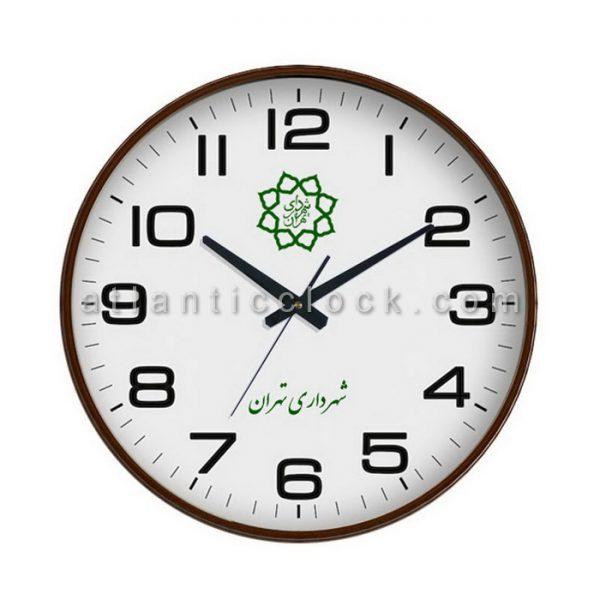 ساعت دیواری تبلیغاتی شهرداری تهران سایز 31 گرد
