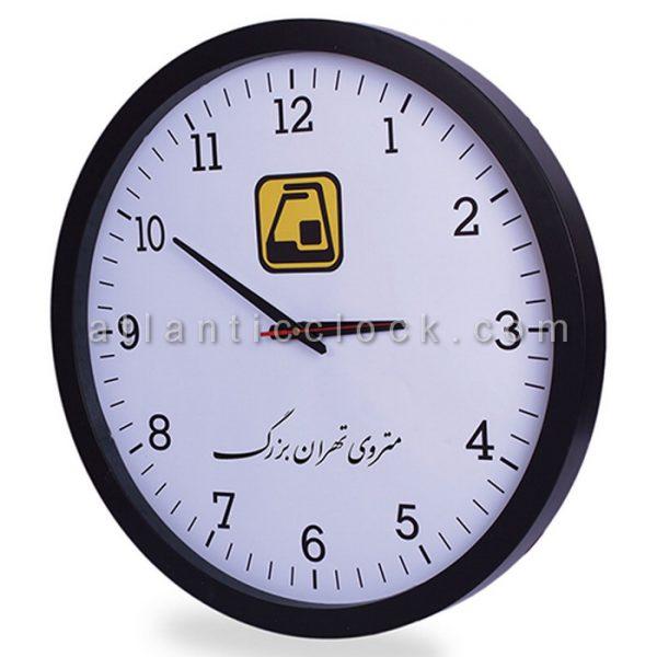 ساعت دیواری تبلیغاتی مترو تهران بزرگ سایز 31 گرد