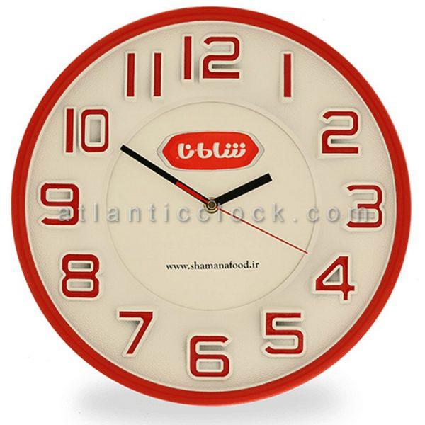 ساعت دیواری تبلیغاتی محصولات غذایی شامانا سایز 31 گرد