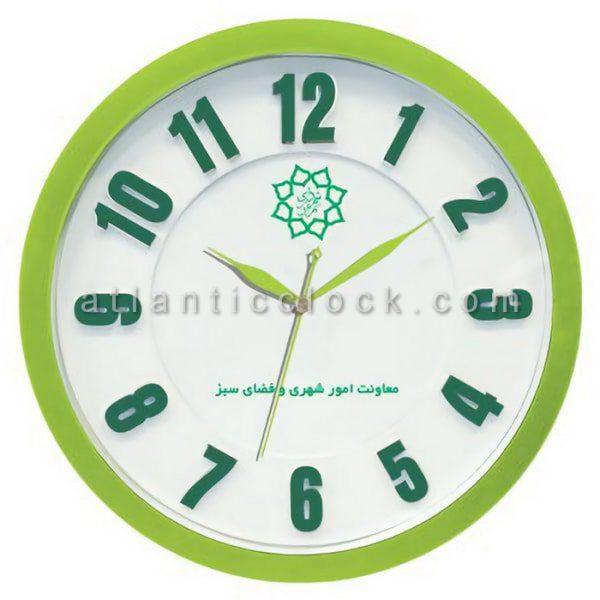ساعت دیواری تبلیغاتی معاونت امور شهری شهرداری تهران سایز 31 گرد