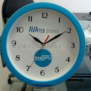 ساعت دیواری تبلیغاتی آوا طب سایز 41 گرد