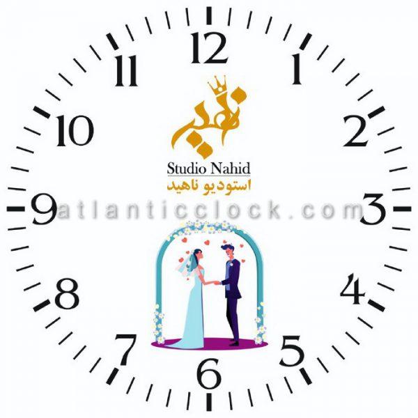 ساعت دیواری تبلیغاتی استودیو ناهید سایز 41 گرد