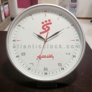 ساعت دیواری تبلیغاتی بانک شهر سایز 41 گرد