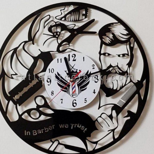 تولید ساعت دیواری گرد آرایشگاه مردانه