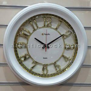ساعت دیواری گرد سفید مدل اپل سایز 50