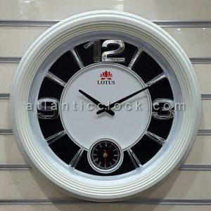ساعت دیواری گرد لوتوس مدل آبکاری سایز 60