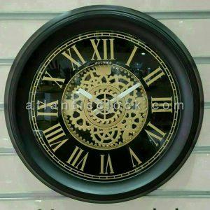 ساعت دیواری گرد مونیک 11 سیاه سایز 50